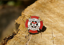 Medic One Foundation Lapel Pin Pinback Red White Silver Tone Metal Hospital