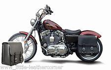 """Sacoche de selle """"Boston"""" 28 L à gauche Harley Davidson, sportster, déballer cendres, roadster"""