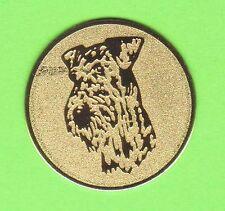 36 Embleme Hund D 25mm Schnauzer Terrier #1(Medaillen Pokale Emblem Medaille)