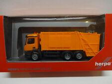 Herpa 307048 MB Mercedes Benz Antos Pressmüllwagen orange unbedruckt 1:87 Neu
