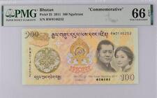 Bhutan 100 Ngultrum ND 2011 P 35 COMM. GEM UNC PMG 66 EPQ