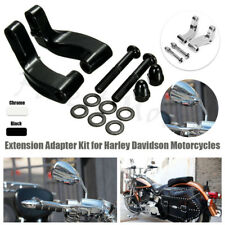 Black Mirror Relocation Extension Adapter FIT Harley Davidson Motorcycle US NEW