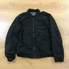 Armani Exchange Large Black Faded Casual Bomber Jacket Lightweight Authentic
