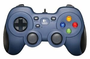 Logitech F310 Gamepad Cablato, Blu/Nero