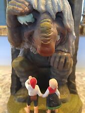 Henning Norway Handcarved Wood Troll In The Mountain 8 Inches Tall