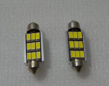 2 x BOMBILLAS LED C5W 9 SMD 41MM BLANCO CANBUS MATRICULA BULBS WHITE BOMBILLA