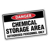 Danger Chemical Storage Area Sticker Decal Safety Sign Car Vinyl #6408ST