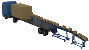 Container Unloading Conveyor without Loading Bay Telescopic Roller Conveyor,