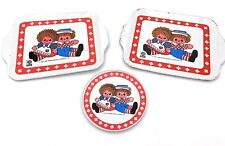 Raggedy Ann and Andy Mini Serving Tray Plates Decorative Collectibles