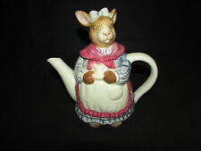 Bunny Tea Pot Rabbit Coffee Pot Figurine Decorative Collectable Porcelain