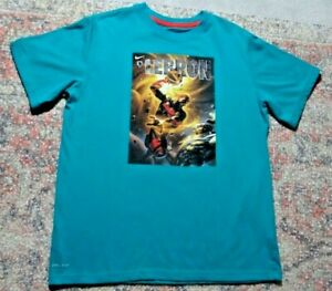 LeBron James Dark Horse Comics Nike Dri Fit Teal T-Shirt~Sz Youth L 10/12