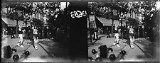 PARIS c. 1900 - Stéréo Verre Artiste Rue Mr Muscle - ST 2