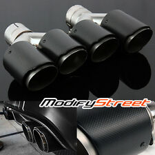 """2PC 2.5"""" Inlet/3.5"""" Outlet Carbon Fiber/Stainless Steel Dual Y-Pipe Exhaust Tip"""