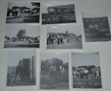 1930's Wallace Circus Candid Photos of elephants Set UP Trucks