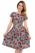 Retro Dresses for Women with Belt