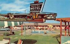 Roswell, New Mexico Royal Motel Roadside Pool Multi View c1950's Postcard