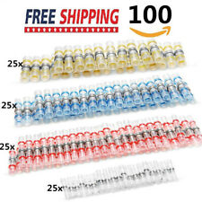 100pcs Solder Seal Heat Shrink Butt Wire Cable Connector For marine and auto