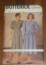 Butterick 6236 Misses  Dress Belle France Vintage Pattern sz 14