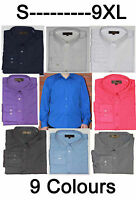 Mens Long Sleeve Shirt Formal Casual  S- 9XL Outsize Plus Size 9 Col (Stripe)pkt