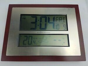 La Crosse Technology ~ Atomic Digital Wall Clock ~ W86111-BHG ~ Pre-owned
