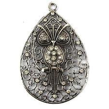 3 pieces/lot jewelry pendant metal owl pendants accessories diy scarf pendant