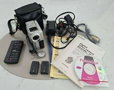 Sony DCR-PC3E Mini DV Tape Handycam Camcorder + Case Cables Batteries Remote