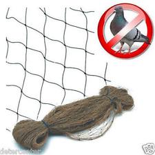 Rete anti uccelli color pietra barriera piccioni gabbiani volatili metri 5x10
