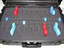 New Black Pelican ™ 1650 Black case with 22 Pistol handgun foam + nameplate