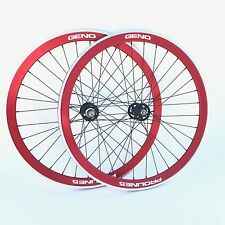 "New 27"" Geno Proline 5 Fixed Gear Track Red Wheelset"
