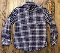 John Varvatos Mens Long Sleeve Button Front Casual Shirt Size Large