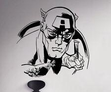 Captain America Wall Decal Avenger Vinyl Sticker Marvel Comics Art Decor 69(nse)
