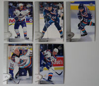 1996-97 Upper Deck UD Series 2 New York Islanders Team Set of 5 Hockey Cards
