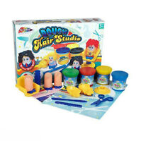 Grafix Dough Hair Studio Moulding Modelling Activity Play Styling Set 4 Tubs Doh
