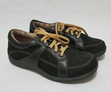 NIB Drew Barefoot Freedom Women's Geneva Oxford Shoes Black Leather  Size 9 M