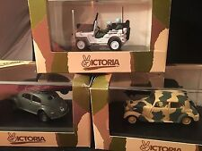 3 VICTORIA  MILITARY DIE-CAST Military Vehicles NEW Old Stock #R011, #R013,#R023