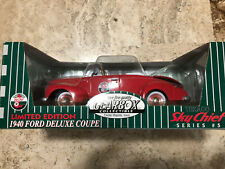 Gearbox Collectible 1940 Ford Deluxe Red Coupe Texaco Sky Chief Replica Car Mib