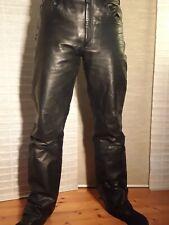 Lederjeans Lederhose Jeans Biker Gothic Gay Hose Trachten Leder Gr. 32