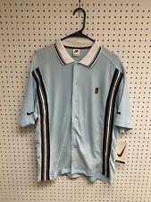 Vintage Nike Blue Tennis Button Up Polo NWT Size M