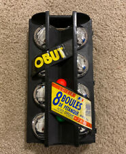 Vintage La Boule Obut Lawn Bowling Game Bocce Six Steel Balls In Case