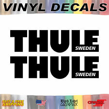 THULE Sweden - Set of 2 Vinyl Decal Sticker Graphic Funny Auto Car Truck Window