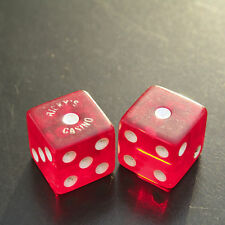 Vintage Ricky's Casino Dice Red 11/16'' Gambling One Pair