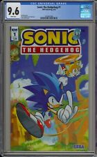 """SONIC THE HEDGEHOG #1 - CGC 9.6 - COVER """"A"""" BY TYSON HESSE - 1616967090"""