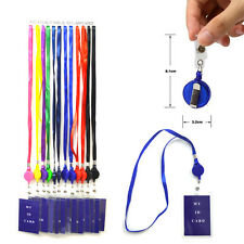 "12 new ID Holder Lanyards Retractable ID Holder Badge Holder with 17"" Necklace"
