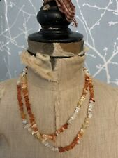 Costume Jewellery Amber Chips Long Necklace