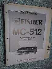 fisher mc-512 service manual original repair book stereo tuner radio  turntable