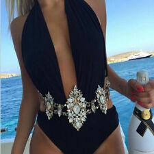 Women's Crystal Rhinestone Belt Waist Chain Beach NWT AB Sparkle Body Jewelry