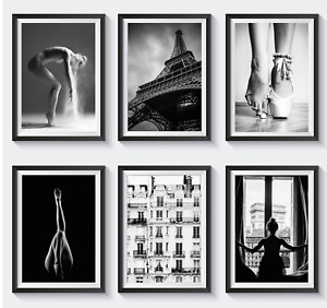 Set of 6 Fashion Vogue Designer Wall Art Bedroom Print Home Posters Deco Gift