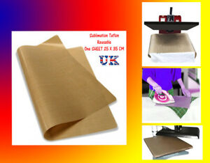 HEAT PRESS SHEET  - PTFE Teflon reusable FREE Postage / For Sublimation