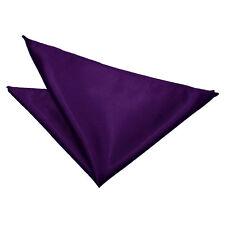 Pañuelo de bolsillo cuadrado de boda púrpura de satén Pañuelo