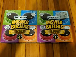 Learning Resources Recordable Answer Buzzers - Set of 4